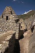 Upper Industrial Section of Machu Picchu  Peru