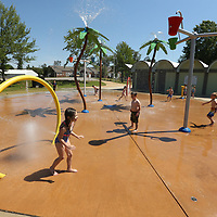 Children from C.A.S.A enjoy a day trip to the splash pad at Rob Leake Park in Tupelo on Friday. The Splash pads in Tupelo are open from 10 a.m. until 7 p.m. on Fridays, Saturdays and Sundays. On May 29, Parks and Recreation will open the splash pads all week.
