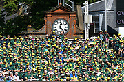 Australian fans soaking up the sunshine in the Compton Stand during the International Test Match 2019 match between England and Australia at Lord's Cricket Ground, St John's Wood, United Kingdom on 18 August 2019.