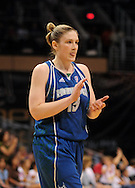 June 10, 2010; Phoenix, AZ, USA; Minnesota Lynx guard Lindsay Whalen reacts against Phoenix Mercury during the first half at US Airways Center.  The Mercury defeated the Lynx 99-88.  Mandatory Credit: Jennifer Stewart-US PRESSWIRE