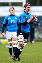 Sarah Hunter of England Women - Mandatory by-line: Robbie Stephenson/JMP - 10/02/2019 - RUGBY - Castle Park - Doncaster, England - England Women v France Women - Women's Six Nations