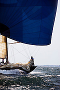 Northern Light sailing in the Museum of Yachting Classic Yacht Regatta.