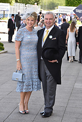 Eamonn Holmes and Ruth Langsford at the 2d day of The Investec Derby Festival - Derby Day, Epsom Racecourse, Epsom, Surrey, UK. 01 June 2019.