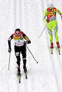 GEPA-02011034026 - OBERHOF,DEUTSCHLAND,02.JAN.10 - SKI NORDISCH, LANGLAUF - FIS Weltcup, Tour de Ski, 10km klassisch, Damen. Bild zeigt Justyna Kowalczyk (POL) und Petra Majdic (SLO). Foto: GEPA pictures/ Markus Oberlaender.FOT. GEPA / WROFOTO.*** POLAND ONLY !!! ***