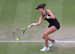 Johanna Konta during her WTA Singles Final match with Ashleigh Barty during day seven of the Nature Valley Open at Nottingham Tennis Centre.