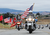 A train of riders arrives at the Memorial Day ceremony on Monday at the Monterey County Vietnam Veterans Memorial in Salinas.