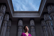 ***LEDE*** Singer-songwriter Amy Dabalos poses for a portrait at the Rosicrucian Egyptian Museum in San Jose, California, on July 1, 2015. (Stan Olszewski/SOSKIphoto for Content Magazine)