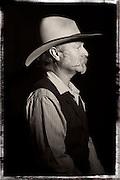 Saddlemaker , rawhide braider, Jeff Minor of Salmon, Idaho.
