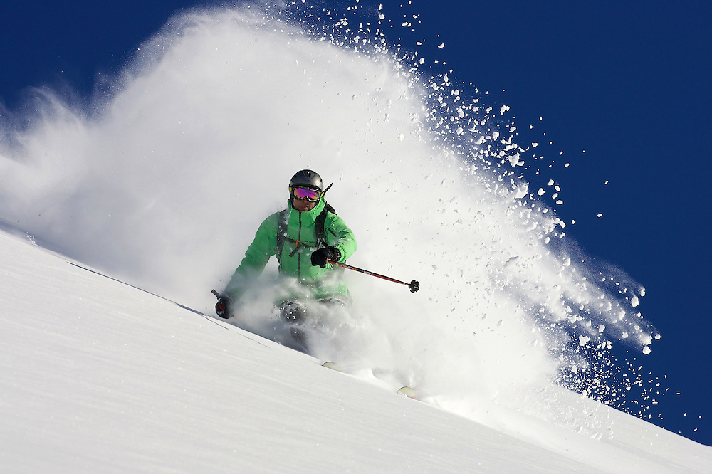 Male Skiing, Serre Chevalier, Hautes Alps, France