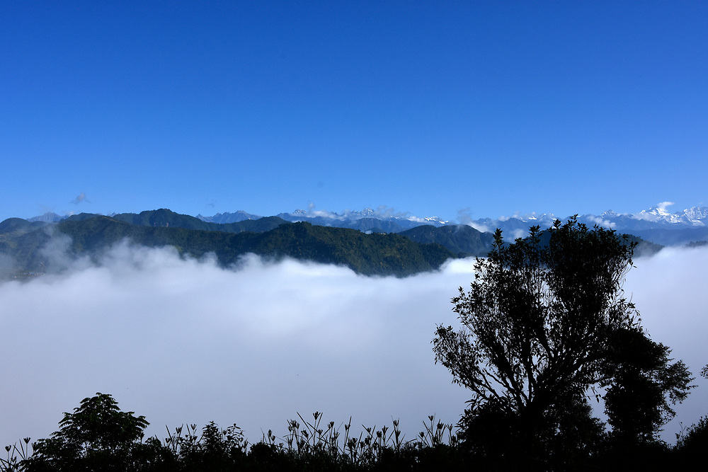 Mountain view of Haibung, Sindhupalchowk, Nepal