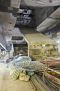 Construction of a new station on the future Songshan line.
