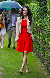 South Korean actress, Han Go-eun, arrives at the Royal Salute Coronation Cup polo at Windsor Great Park in Surrey.