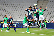 Marquinhos of PSG, Mauro Icardi of PSG, Yann M'Vila of Saint-Etienne during the French Cup final football match between Paris Saint-Germain (PSG) and Saint-Etienne (ASSE) on Friday 24, 2020 at the Stade de France in Saint-Denis, near Paris, France - Photo Juan Soliz / ProSportsImages / DPPI