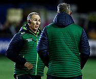 Head Coach Andy Friend of Connacht with Jimmy Duffy<br /> <br /> Photographer Simon King/Replay Images<br /> <br /> Guinness PRO14 Round 7 - Ospreys v Connacht - Friday 26th October 2018 - The Brewery Field - Bridgend<br /> <br /> World Copyright &copy; Replay Images . All rights reserved. info@replayimages.co.uk - http://replayimages.co.uk