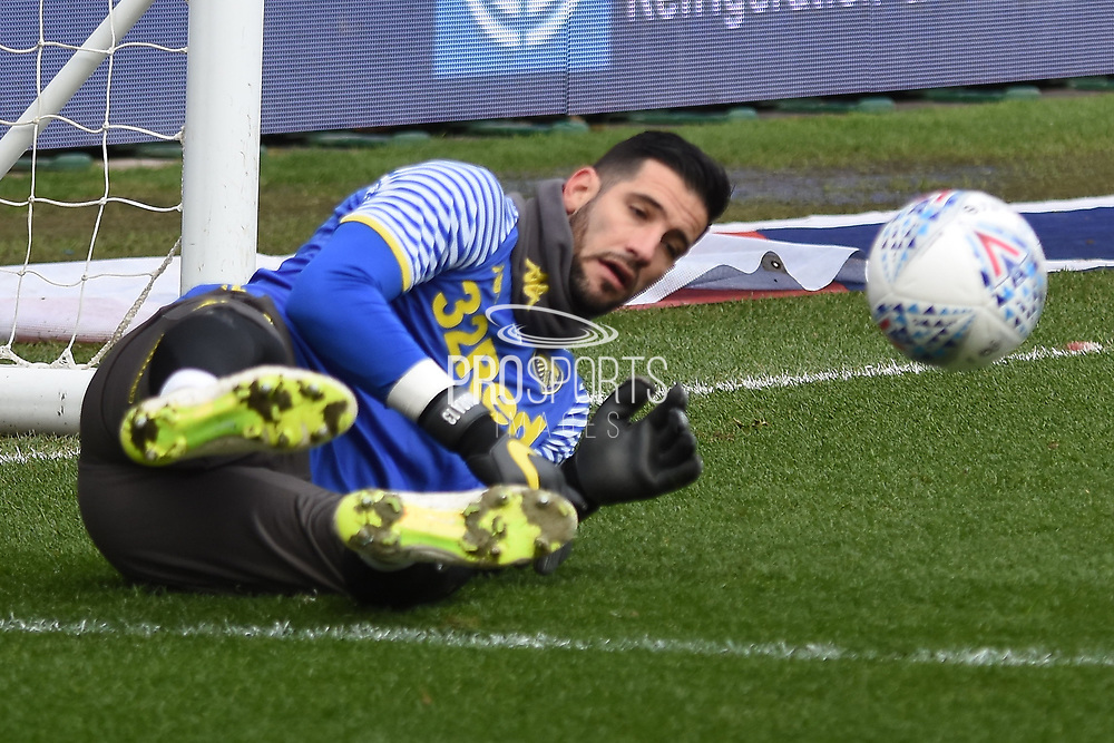 Leeds United goalkeeper Kiko Casilla (33) during the EFL Sky Bet Championship match between Bristol City and Leeds United at Ashton Gate, Bristol, England on 9 March 2019.