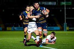 Matt Cox of Worcester Cavaliers breaks through - Mandatory by-line: Robbie Stephenson/JMP - 24/09/2018 - RUGBY - Sixways Stadium - Worcester, England - Worcester Cavaliers v Sale Jets - Premiership Rugby Shield