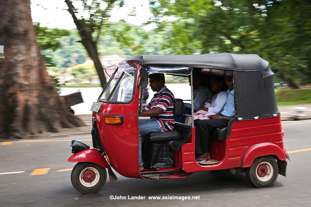 "Tuk Tuk or ""three wheeler"" is one of the chief modes of transport across many parts of Asia as a vehicle for hire. It is a motorized version of the traditional rickshaw or velotaxi, a small three-wheeled cart and are usually powered by 2 cycle or 4 cycle motorbike engines."
