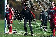 during the boys soccer game between the Champlain Valley Union Redhawks and the Essex Hornets at Essex High School on Saturday mooring October 10, 2015 in Essex. (BRIAN JENKINS/For the FREE PRESS)