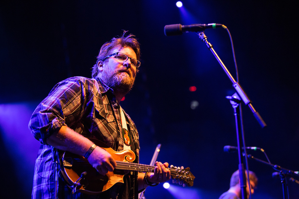Erik Berry, mandolin player for Trampled by Turtles, on stage at Celebrate Brooklyn.
