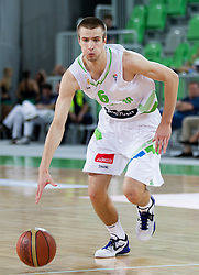 Matej Rojc of Slovenia during basketball match between National teams of Slovenia and Serbia in day 3 of Adecco cup, on August 5, 2012 in Arena Stozice, Ljubljana, Slovenia. (Photo by Vid Ponikvar / Sportida.com)