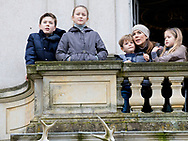Copenhagen, 05-11-2017<br /> <br /> <br /> Crown Princess Mary attend the Hubertus Jagt with her 4 children<br /> <br /> <br /> <br /> Royalportraits Europe/Bernard Ruebsamen
