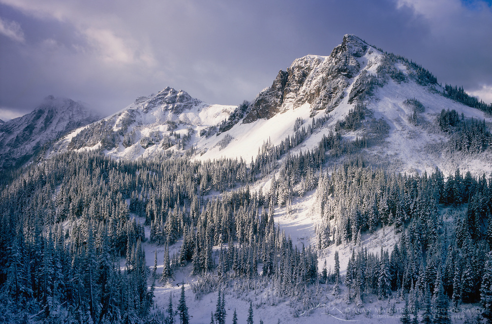 Buck Creek Pass after September snow storm, Glacier Peak Wilderness in the North Cascades Washington