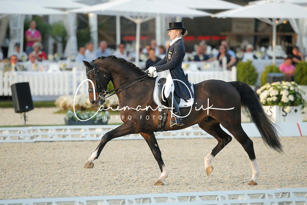 Lang Jenny, (GER), Loverboy 26<br /> Grand Prix Freestyle Kür<br /> CDIO Hagen 2015<br /> © Hippo Foto - Stefan Lafrentz