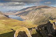 View over Glen Einich in late summer, Scotland.