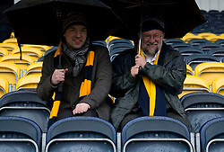 Warriors fans arrive early despite the weather  - Mandatory by-line: Joe Meredith/JMP - 26/03/2016 - RUGBY - Sixways Stadium - Worcester, England - Worcester Warriors v London Irish - Aviva Premiership