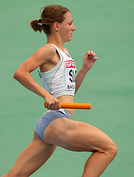 Anja Puc competes as a first Slovenia athlete during  the 4x400m Womens Relay Heats during day five of the 20th European Athletics Championships at the Olympic Stadium on July 31, 2010 in Barcelona, Spain.  (Photo by Vid Ponikvar / Sportida)
