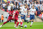 Kieran Trippier (Tottenham) in action during the Premier League match between Tottenham Hotspur and Liverpool at Wembley Stadium, London, England on 15 September 2018.