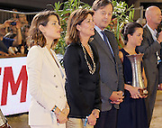 28.JUNE.2013. MONTE CARLO<br /> <br /> H. R. H. PRINCESS CAROLINE OF HANOVER WITH DAUGHTER CHARLOTTE CASIRAGHI TO GIVE THE PRIZES OF THE 'PRO-AM' CUP OF THE MONTE-CARLO JUMPING.<br /> <br /> BYLINE: EDBIMAGEARCHIVE.CO.UK<br /> <br /> *THIS IMAGE IS STRICTLY FOR UK NEWSPAPERS AND MAGAZINES ONLY*<br /> *FOR WORLD WIDE SALES AND WEB USE PLEASE CONTACT EDBIMAGEARCHIVE - 0208 954 5968*