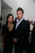 ALISON JACQUES AND NICHOLAS FITCH, private view  of new exhibition by Tim Stoner , Alison Jacques Gallery in new premises in Berners St., London, W1 ,Afterwards across the rd. at the Sanderson Hotel. 3 May 2007. DO NOT ARCHIVE-© Copyright Photograph by Dafydd Jones. 248 Clapham Rd. London SW9 0PZ. Tel 0207 820 0771. www.dafjones.com.