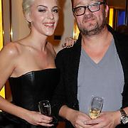 NLD/Amsterdam/20111122 - Presentatie sieradenlijn Cockring van Stacey Rookhuizen, met Playboy hoofdredacteur Jan Heemskerk