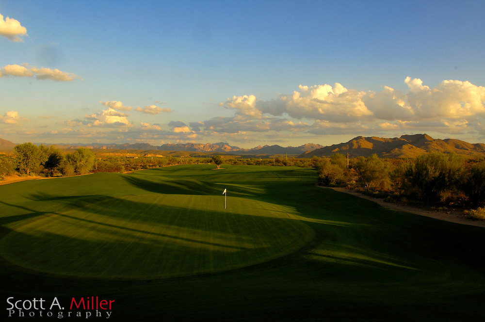 Tempe, Ariz.; Oct 21, 2006 - Hole No. 13 on the Saguaro Course at We-Ko-Pa Golf Club in Fort McDowell, Ariz....                ©2006 Scott A. Miller