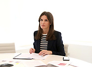 041620 Queen Letizia attends a videoconference at Zarzuela Palace