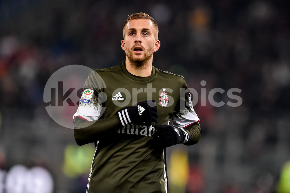 Gerard Deulofeu of AC Milan during the Serie A match between Lazio and AC Milan at Stadio Olimpico, Rome, Italy on 13 February 2017. Photo by Giuseppe Maffia.