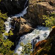 The waterfall Voeringsfossen at Hardangervidda national park, Hordaland, Norway.
