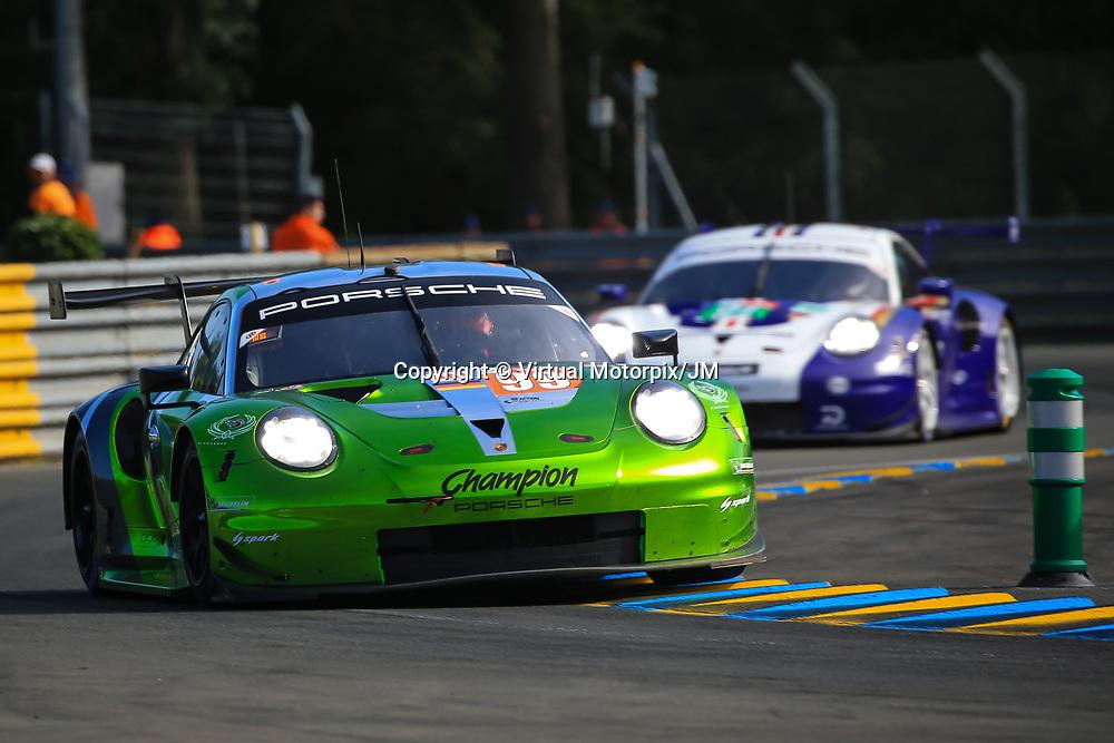 #99, Proton Competition, Porsche 911 RSR, LMGTE Am, driven by: Patrick Long, Timothy Pappas, Spencer Pumpelly, 24 Heures Du Mans  2018, , 16/06/2018,