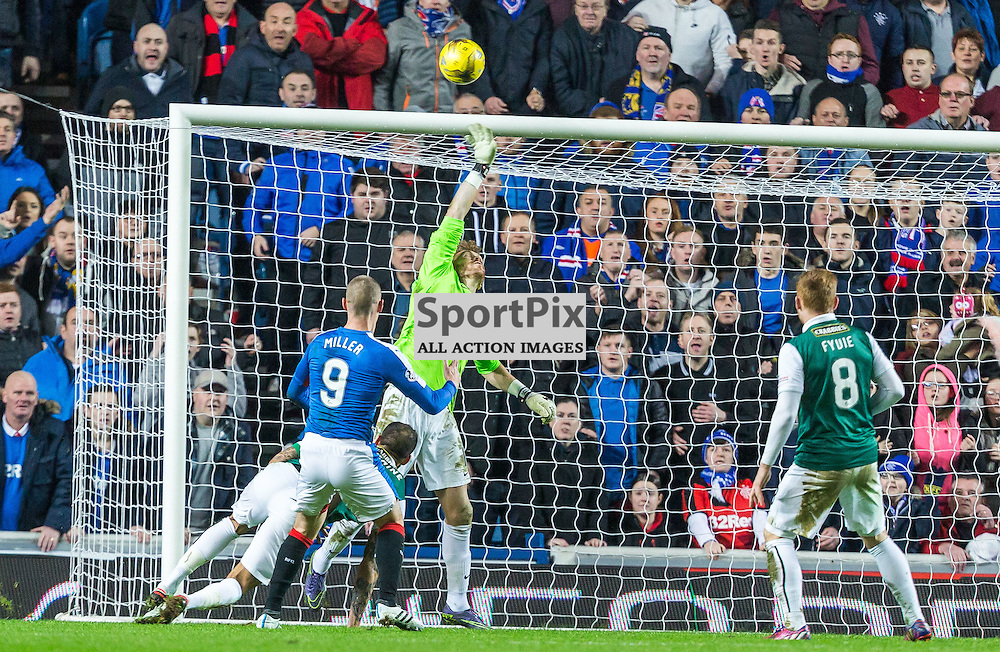 Kenny Miller misses a chance during the match between Rangers and Hibernian (c) ROSS EAGLESHAM | Sportpix.co.uk