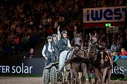 Chardon IJsbrand, NED, Caspere, Feles, Kendi, Maestoso XIV-7<br /> FEI World CupTM Driving - Stuttgart 2018<br /> © Hippo Foto - Stefan Lafrentz<br /> 17/11/2018