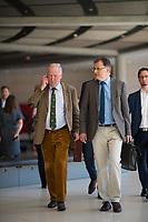 DEU, Deutschland, Germany, Berlin, 24.07.2019: AfD-Fraktionschef Alexander Gauland und Jürgen Braun (Alternative für Deutschland) vor Beginn der Fraktionssitzung der AfD.