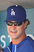 LOS ANGELES, CA - APRIL 29:  Manager Don Mattingly #8 of the Los Angeles Dodgers smiles as he talks to the media during the game against the Washington Nationals on Sunday, April 29, 2012 at Dodger Stadium in Los Angeles, California. The Dodgers won the game in a 2-0 shutout. (Photo by Paul Spinelli/MLB Photos via Getty Images) *** Local Caption *** Don Mattingly