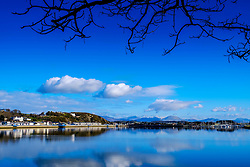 Looking across the bay from Pwllheli towards the Snowdonia National Park, North Wales<br /> <br /> (c) Andrew Wilson | Edinburgh Elite media