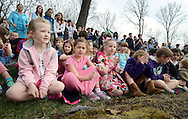 BUCKINGHAM, PA - APRIL 22:  Students sing a song during an Earth Day celebration at Buckingham Friends School April 22, 2014 in Buckingham, Pennsylvania.  (Photo by William Thomas Cain/Cain Images)