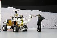 Nederland, Leiden, 20100201.Een prototype van een all-terrain, rover-type voertuig voor in de ruimte om het oppervlak van Mars en de maan te verkennen.<br /> Dit prototype, genaamd EGP-Rover, is onderdeel van een ander groter project genaamd EGP (Eurobot Ground Prototype), die aan Thales Alenia Space is toegekend door ESA.<br /> Airbus Defence and Space Netherlands B.V. in Leiden.<br /> De cleanrooms met flight hardware voor raketen en satellieten. Stofvrije ruimtes voor fabricage van ruimte technologie.<br /> <br /> Netherlands, Leiden, 20100201.<br /> A prototype of an all-terrain, rover-type vehicle for Space to explore the surface of Mars and the Moon.<br /> This prototype, called EGP-Rover, is part of another larger project called EGP (Eurobot Ground Prototype), which has been awarded to Thales Alenia Space by ESA.<br /> Airbus Defence and Space Netherlands BV in Leiden.<br /> The cleanrooms with flight hardware for rockets and satellites. Cleanrooms for fabrication of space technology.