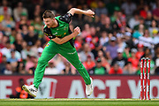17th February 2019, Marvel Stadium, Melbourne, Australia; Australian Big Bash Cricket League Final, Melbourne Renegades versus Melbourne Stars; Jackson Bird of the Melbourne Stars bowls