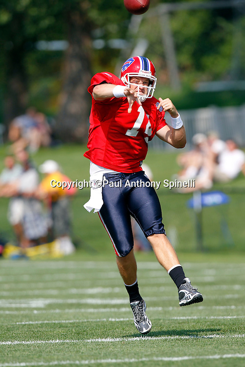 NFL Buffalo Bills quarterback Ryan Fitzpatrick (14) throws a pass during training camp at St. John Fisher College on August 5, 2010 in Pittsford, New York. (©Paul Anthony Spinelli)