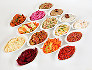 Mezze of Mediterranean Salads