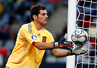 Iker Casillas (c) of Spain and Real Madrid FIFA Confederations Cup South Africa 2009 <br /> Spain   v Iraq Group B at Free State  Stadium Mangaung / Bloemfontein South Africa<br /> 17/06/2009 Credit Colorsport / Kieran Galvin